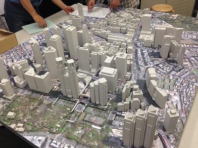 新宿駅周辺模型 株式会社日本設計