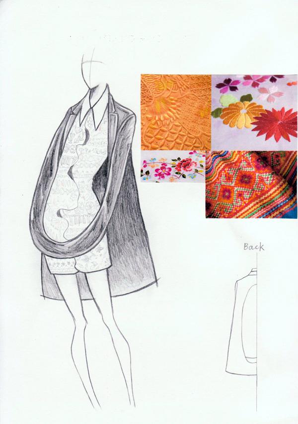 『刺繍』井草彩葉/青山ファッションカレッジ