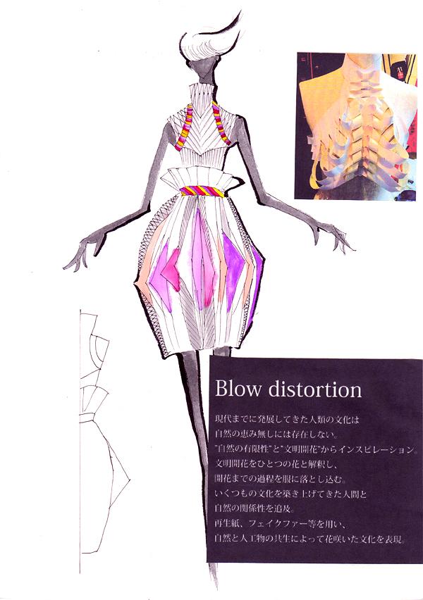 『Blow distortion』野俣睦/国際トータルファッション専門学校