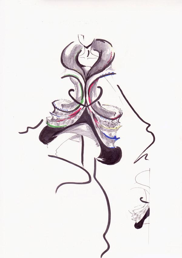 『残像』 中村里奈/倉敷ファッションカレッジ