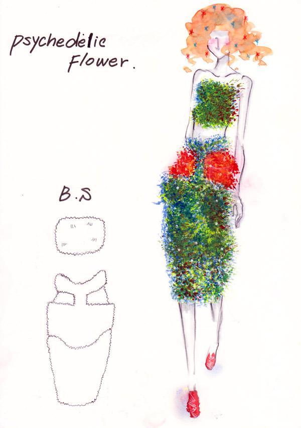 『Psychedelic Flower』 大樋幸奈/文化服装学院