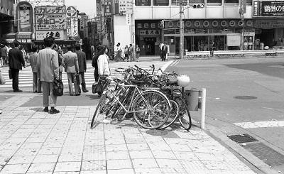 駅前の放置自転車 昭和63年(1988)
