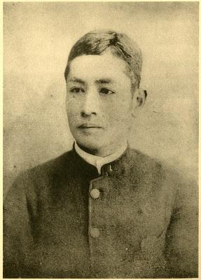 学生時代の漱石(明治25年)
