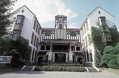 早稲田大学構内の演劇博物館(9月まで工事休館中)