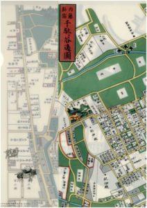 内藤新宿千駄ヶ谷辺図